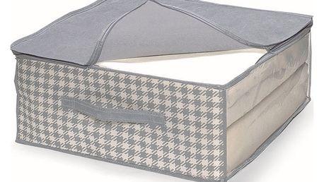 Šedý uložný box na přikrývky Cosatto De Poule,45x45cm