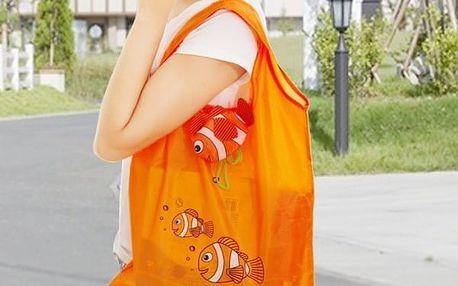 Skládací nákupní taška v podobě rybičky - 7 barev