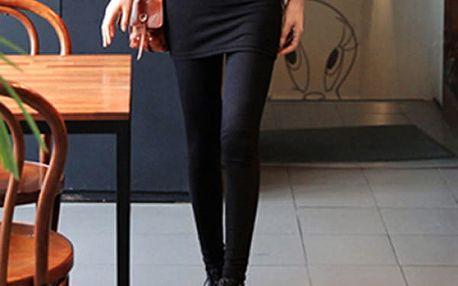 Dámské legíny se sukní - černá - dodání do 2 dnů