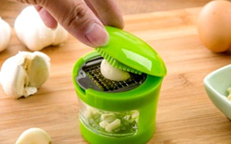 Lis na česnek s miskou - zelený - dodání do 2 dnů