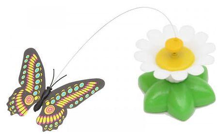 Vtipná hračka pro kočky na baterky - motýlek