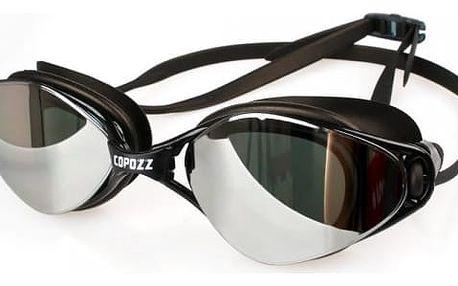 Plavecké nemlžící se brýle se silikonovým páskem - 3 barvy
