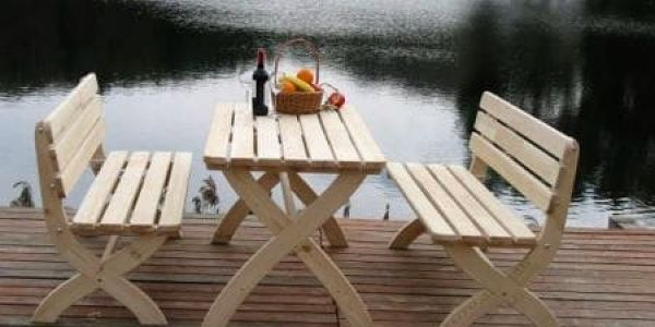 Tradgard STRONG 2722 Zahradní dřevěný stůl přírodní FSC2