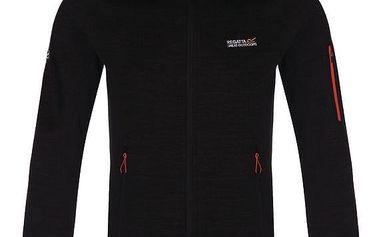 Pánská fleece mikina Regatta RMA234 COLLUMBUS II Black 3XL