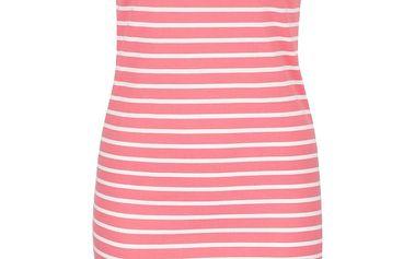Krémovo-růžové pruhované šaty Tom Joule Riviera