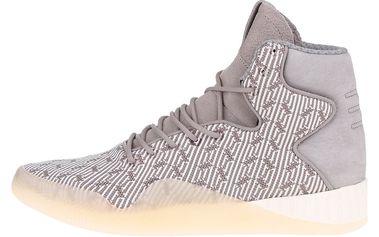 Šedé pánské semišové kotníkové tenisky se vzorem adidas Originals Tubular Instinct