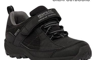 Chlapecká obuv Regatta RKF366 TRAILSPACE LOW Jr Black/Pigeon 30