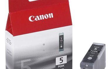 Inkoustová náplň Canon PGI-5Bk, 340 stran - originální (0628B001) černá