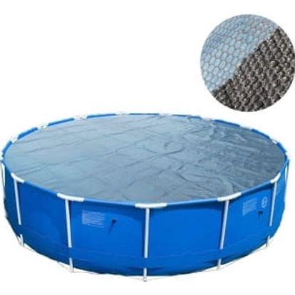 Solární plachta 366 cm kruhová modro-černá