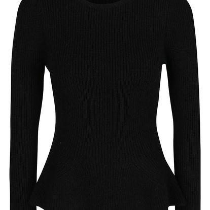 Černý svetr s rozšířenou spodní částí Miss Selfridge