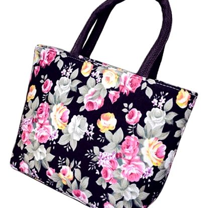 Dámská letní kabelka s květinovým vzorem