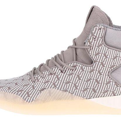 Šedé pánské vzorované kotníkové tenisky adidas Originals Tubular Instinct