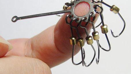 Rybářský háček složený z 9 kusů