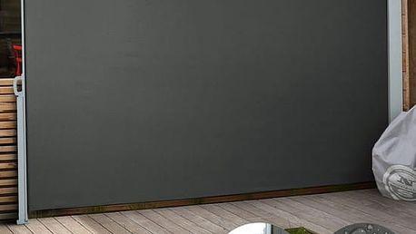 Venkovní zástěna výška 2m délka 3m Sporthome černá