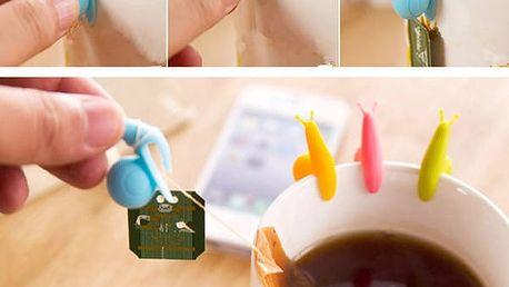 Sada držáčků na čajové sáčky - 5 kusů - dodání do 2 dnů