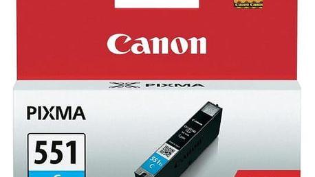 Inkoustová náplň Canon CLI-551XL C, 660 stran - originální (6444B001) modrá