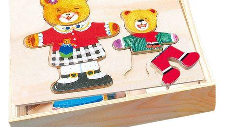 Bino Šatní skříň-medvědice+medvídek