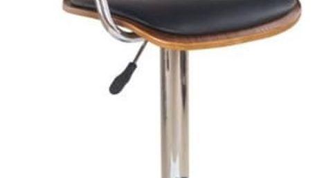 Barová židle H-19 ořech - černá