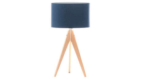 Modrá stolní lampa Artista, bříza, Ø 33 cm - doprava zdarma!