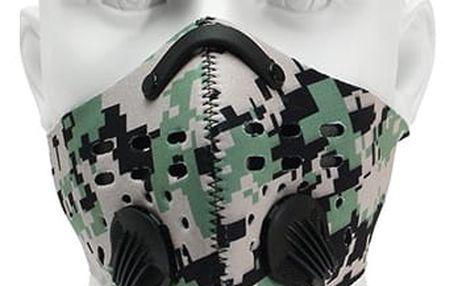 Drsná motorkářská maska s filtrem proti prachu