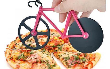 Kráječ na pizzu ve tvaru jízdního kola