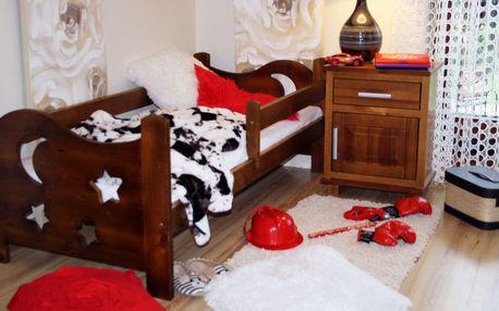 Dětská postýlka z borovicového masivu včetně matrace a roštu