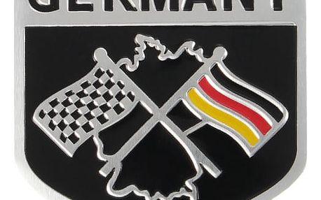 Auto samolepka se vzorem německé závodní vlajky