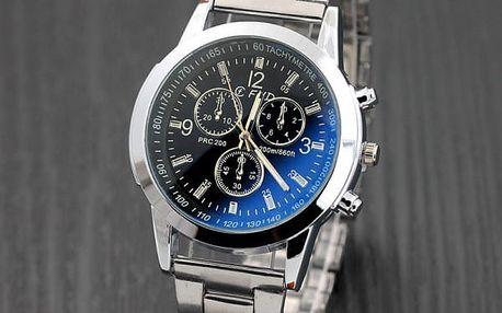 Pánské business hodinky ve stříbrné barvě