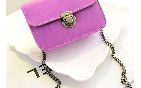 Dámská mini kabelka s řetízkem přes rameno