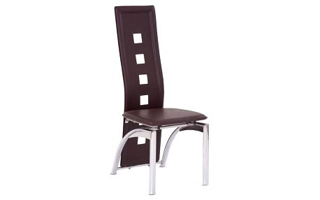 Kovová židle K4 tmavě hnědá
