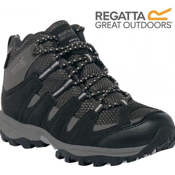 Dětské vysoké boty Regatta RKF340 GARSDALE MID Jnr Black/Granit 32