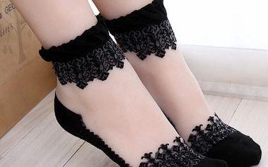 Krajkované sexy ponožky - mix barev