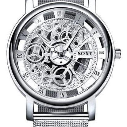 Dámské hodinky se steampunkovým ciferníkem
