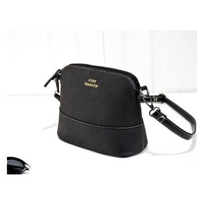 Elegantní semišová kabelka přes rameno