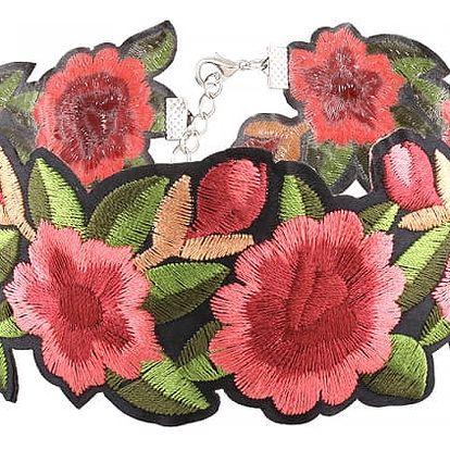 Květinový obojkový náhrdelník