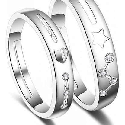 Partnerské prsteny s nastavitelnou velikostí