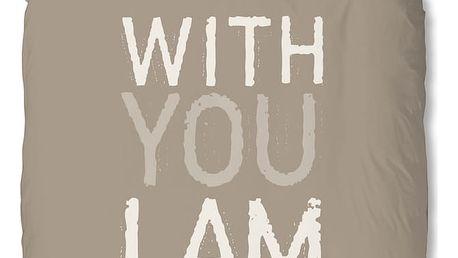 Béžové povlečení Muller Textiel I'm Home, 140x200cm