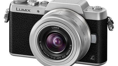 Digitální fotoaparát Panasonic Lumix DMC-GF7KEG-S + objektiv 12-32 mm černý/stříbrný