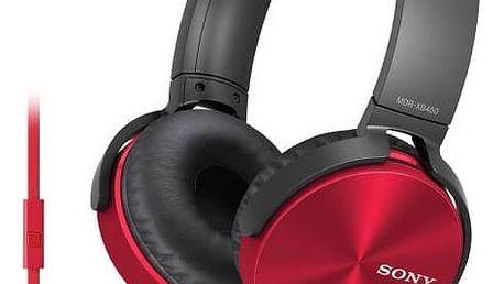 Sluchátka Sony MDRXB450APR.CE7 (MDRXB450APR.CE7) červená + Doprava zdarma