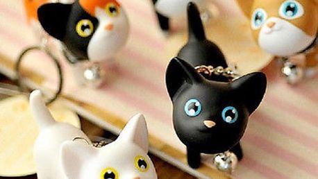 Přívěsek na klíče s kočkou - mix barev