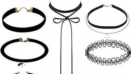 Sada elegantních choker náhrdelníků - 8 variant