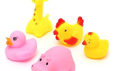 Gumové pískací hračky do vany