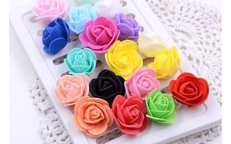 Pěnové růžičky k dekorování v různých barvách - 50 kusů