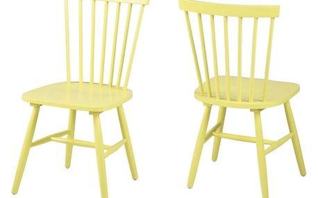 Žlutá jídelní židle Actona Riano - doprava zdarma!
