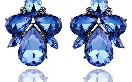 Třpytivé barevné náušnice s krystaly