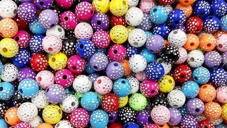 Sada ozdobných korálků - 100 ks / 13 barev