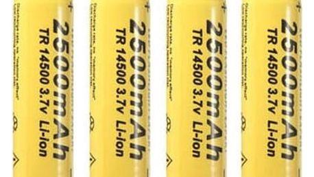 4 ks nabíjecích baterií 14500 - 2500 mAh