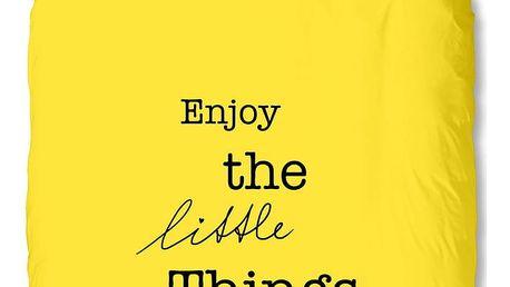 Žluté povlečení Muller Textiel Enjoy, 140x200cm