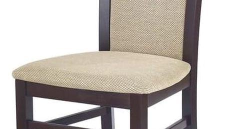 Jídelní židle Gerard 2 ořech - černá