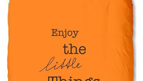 Oranžové povlečení Muller Textiel Enjoy, 200x200cm